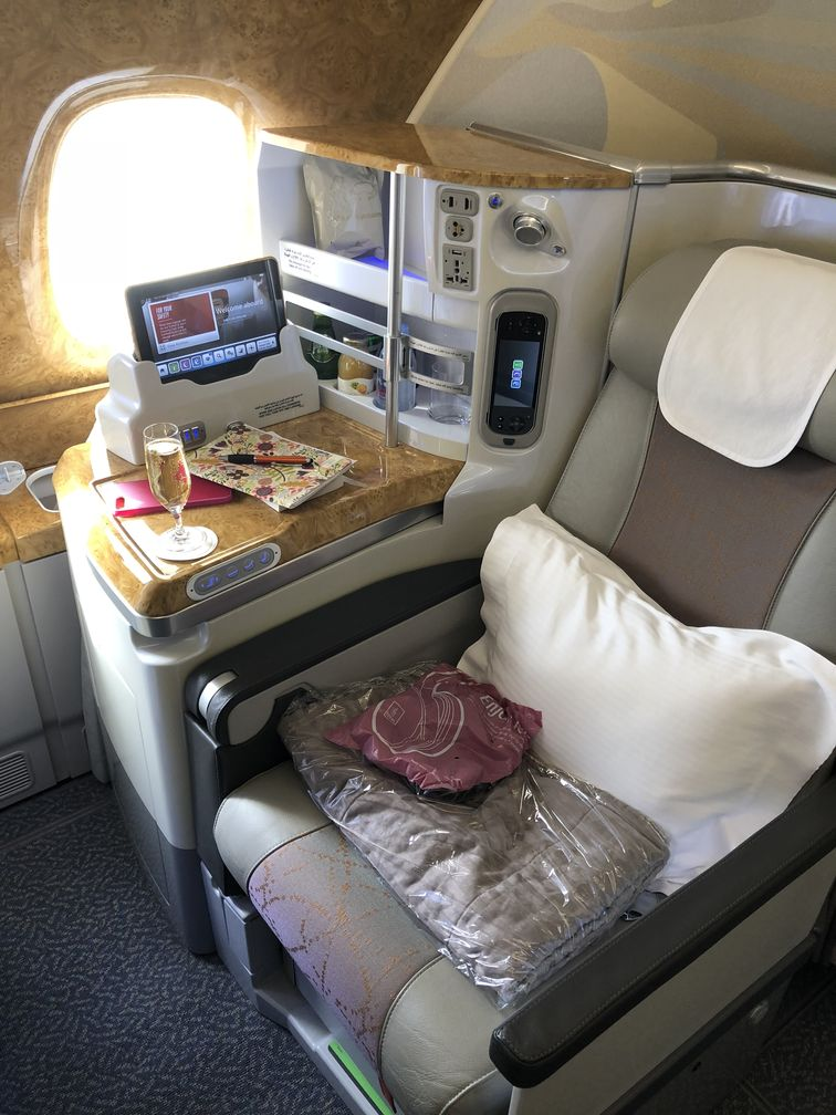 la place et la classe en classe business ! Emirates