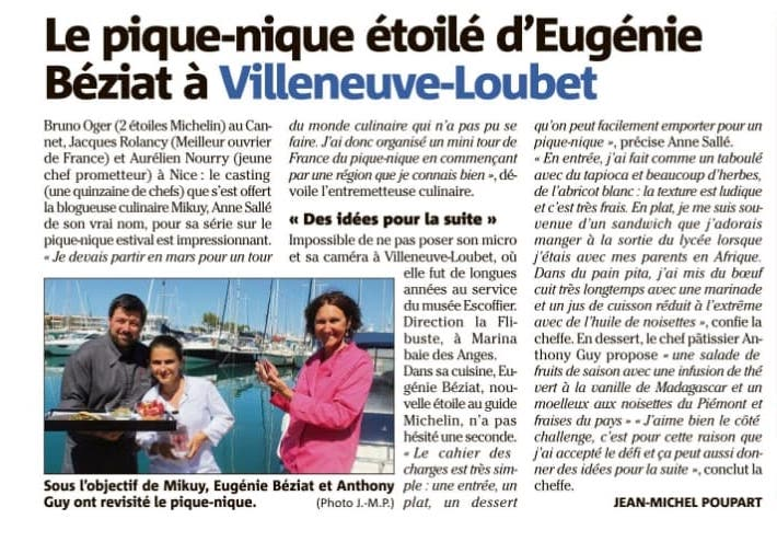 Nice-Matin Cagnes 07/2